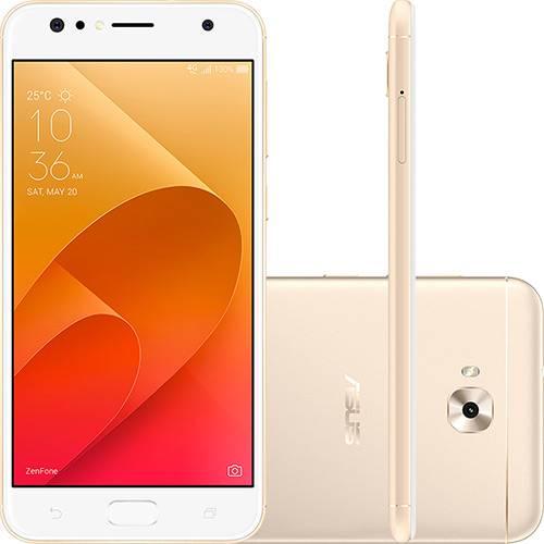 """Tudo sobre 'Smartphone Asus Zenfone 4 Selfie Dual Chip Android 7 Tela 5.5"""" Snapdragon 64GB 4G Câmera Traseira 16MP Dual Frontal 20MP + 8MP - Dourado'"""