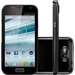 "Smartphone Dual Chip Multilaser Preto MS4 - Tela 4,5"", Android 4.2, Câmera 8MP, Wi Fi, 3G"