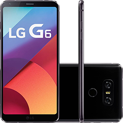 "Smartphone LG G6 Android 7.0 Tela 5.7"" Quad-core 2.35 GHz 32GB 4G Câmera 13MP - Preto"