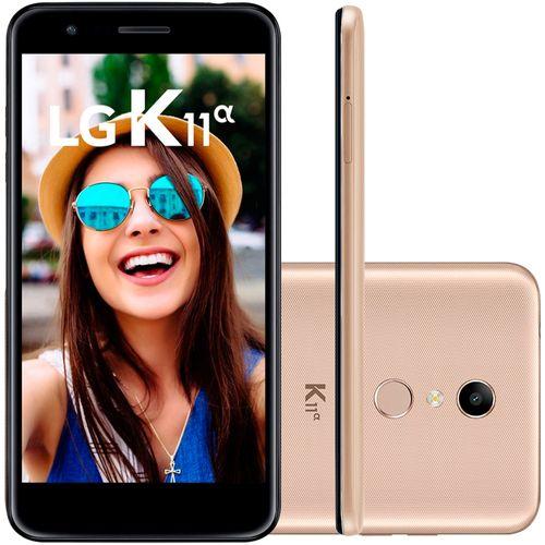 Smartphone LG K11 Alpha 16GB Dual Chip Tela 5.3'' Câmera 8MP Frontal 5MP Android 7.1 Dourado