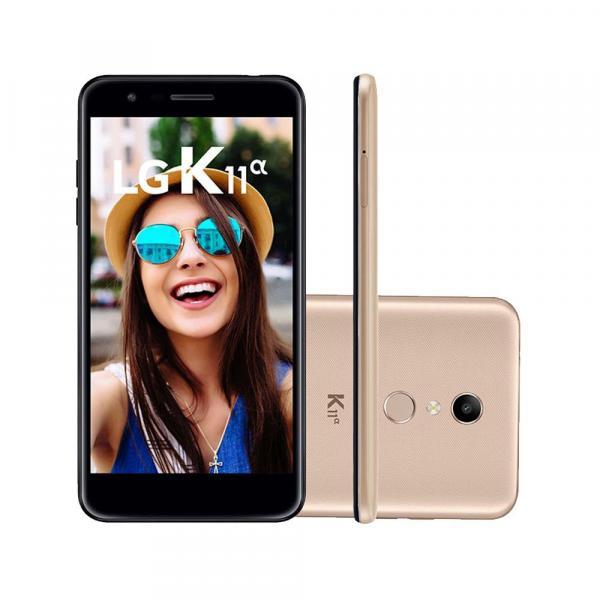 "Smartphone LG K11 Alpha LMX410BTW 16GB 5.3"" Dual Dourado 4G"