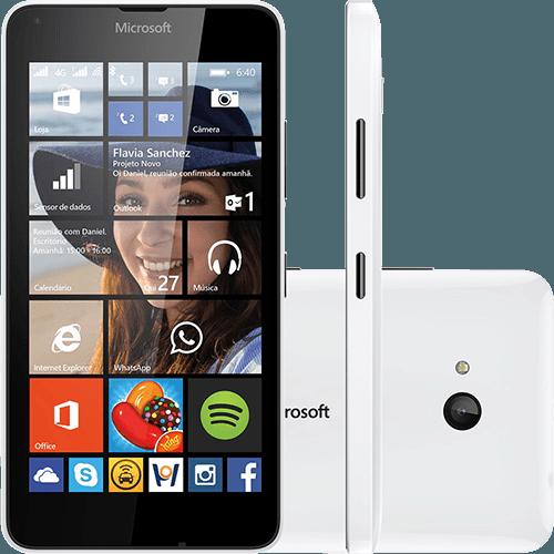 """Tudo sobre 'Smartphone Microsoft Lumia 640 Dual DTV Dual Chip Desbloqueado Windows Phone 8.1 Tela 5"""" 8GB 3G Wi-Fi Câmera 8MP com TV Digital - Branco'"""