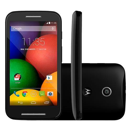 Smartphone Moto e 4gb, Single, Android, Cam 5mp, Tela 4.3, Wi-fi, 3g, Xt1021 Preto