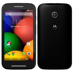 """Smartphone Moto e Dual Chip Preto Tela 4.3"""", 3G+WiFi, Android 4.4, Câmera 5MP, Memória 4GB - Motorola"""