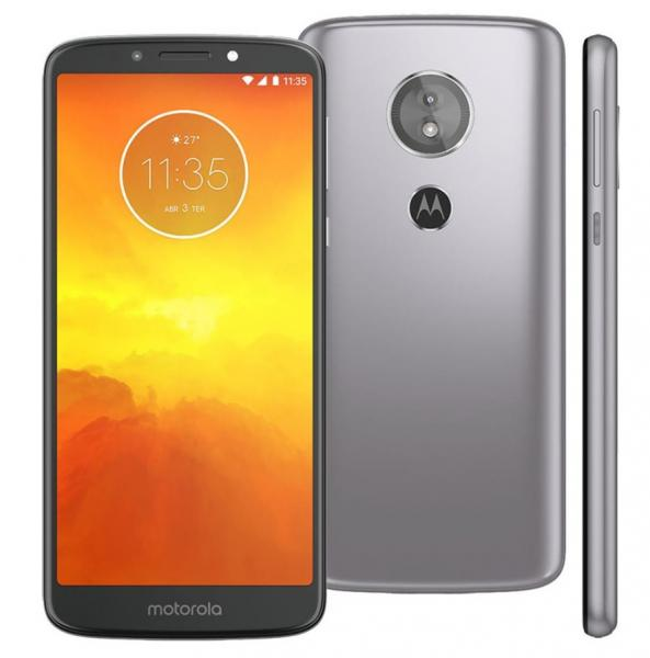 Smartphone Moto E5 XT1944 16Gb 4G Tela 5.7 Câmera 13MP Android 8.0 Dual Chip - Platinum - Motorola