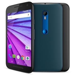 Smartphone Moto G™ (3ª Geração) Azul Navy com Tela de 5'', Dual Chip, Android 5.1, 4G, Câmera 13MP e Processador Quad-Core de 1.4 GHz - Oi