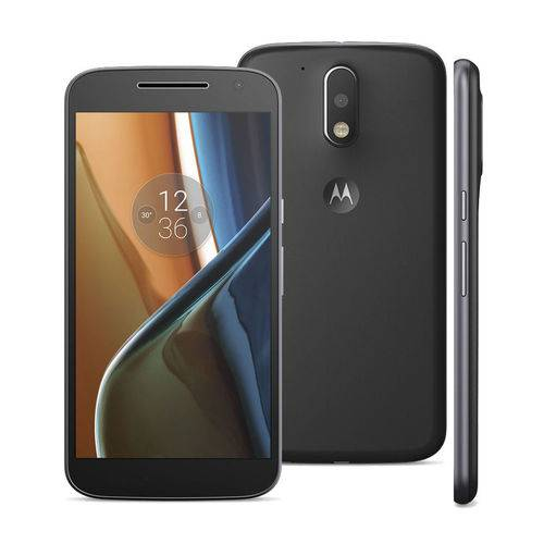 "Smartphone Moto G4 Xt1626 Dual Chip 5,5"" Full Touc Preto Motorola"