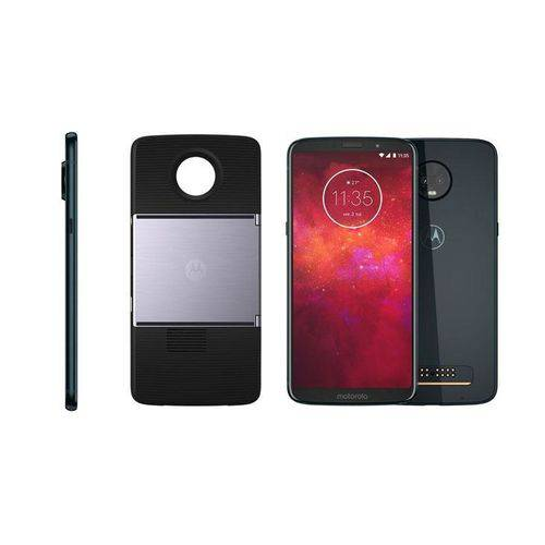 "Smartphone Moto Z3 Play Projector, 6"", 64 GB, Android 8.1, Dual Chip, Câmera 12MP + 5MP, Octa-Core,"