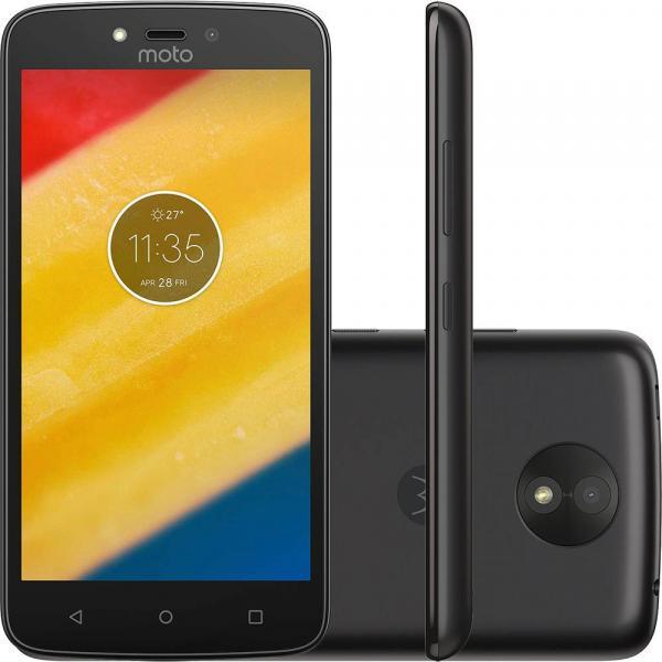 Smartphone Motorola Moto C 8gb Android Dual Chip Tela 5' Câmera 5mp - Preto