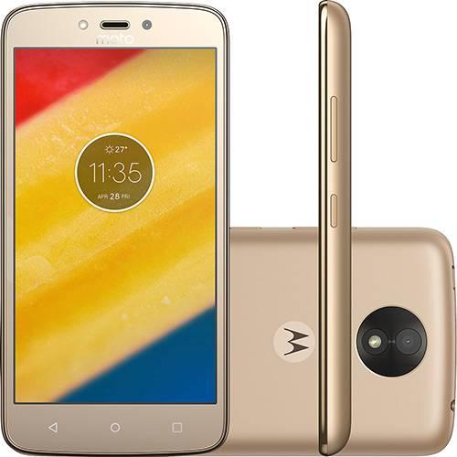 "Tudo sobre 'Smartphone Motorola Moto C Plus Dual Chip Android 7.0 Tela 5"" Quad-Core 16GB 4G Wi-Fi Câmera 8MP - Ouro'"