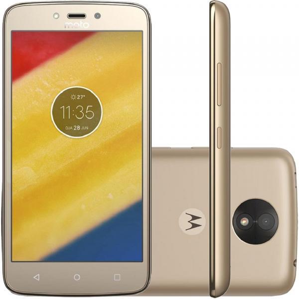 Smartphone Motorola Moto C Plus XT1726 16GB, Dual Chip, 4G, Android 7.0, Câm 8MP, Tela 5, Wi - Fi Dourado