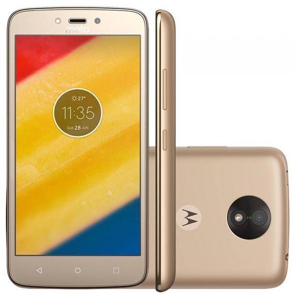 Smartphone Motorola Moto C Plus XT1726 Ouro 16GB