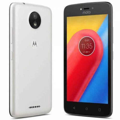 Tudo sobre 'Smartphone Motorola Moto C Xt1750,tela 5.0, Dual Sim,8gb, 5mp/2mp - Branco'