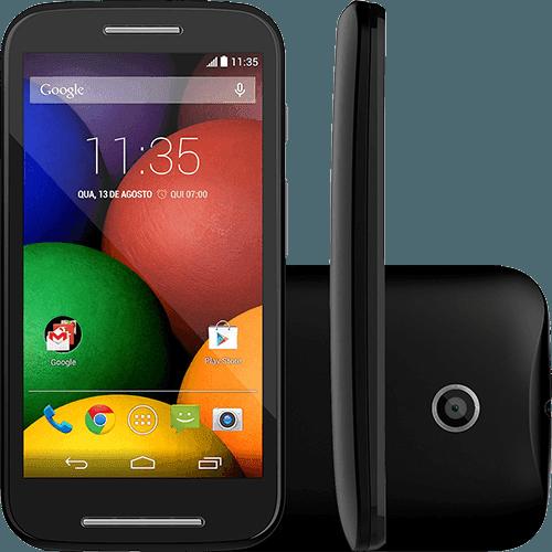 """Smartphone Motorola Moto e Dual Chip Desbloqueado Android 4.4 Tela 4.3"""" 4GB 3G Wi-Fi Câmera de 5MP GPS - Preto"""