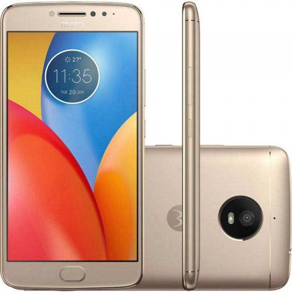 Smartphone Motorola Moto E4 Plus XT1773 16GB, Dual Chip, 4G, Android 7.1, Câm 13 MP, Tela 5.5, Wi-Fi Dourado