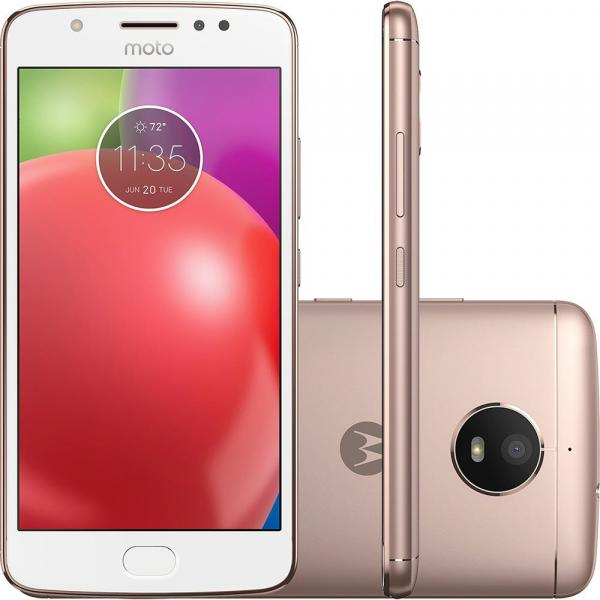 Smartphone Motorola Moto E4 XT1763 Ouro Rose com 16GB, Tela 5, Dual Chip, Android 7.1, 4G, Câmera
