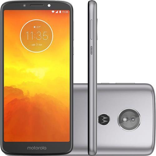 Smartphone Motorola Moto E5 32GB, Nano Chip, Android, Tela 5.7 Pol, 4G Wi-Fi Câmera 13MP - Platino