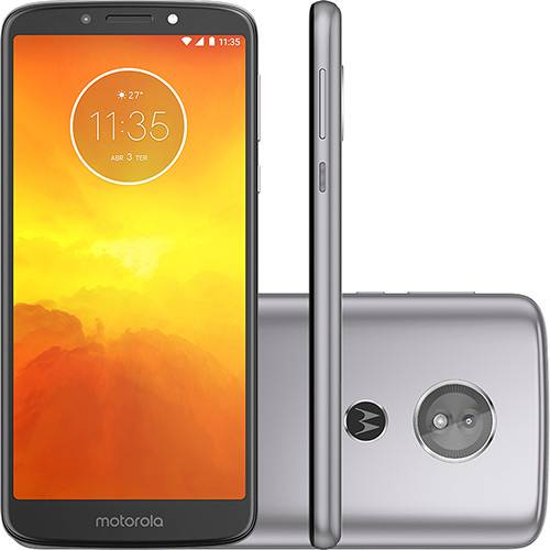 "Smartphone Motorola Moto E5 32GB Nano Chip Android Tela 5.7"" Qualcomm Snapdragon 425 4G Wi-Fi Câmera 13MP - Platino"