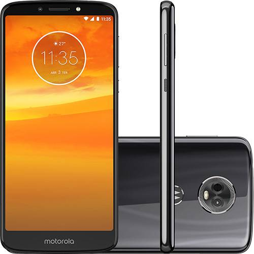 "Smartphone Motorola Moto E5 Plus Dual Chip Android Oreo - 8.0 Tela 5.9"" Quad-Core 1.4 GHz 16GB 4G Câmera 12MP - Grafite"