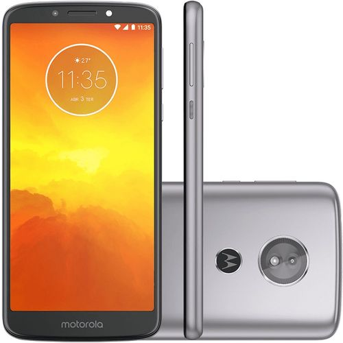 Smartphone Motorola Moto E5 XT1944, 16GB, Dual Chip, 4G, Android 8.0, Câm 13 MP, Tela 5.7'', Wi-Fi Platinum