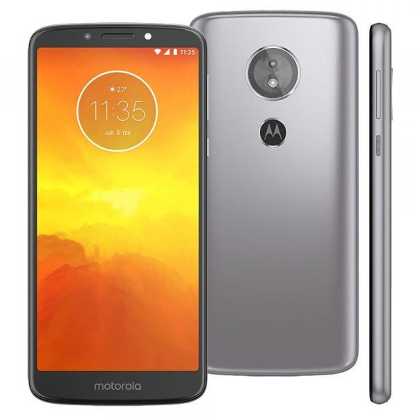 Smartphone Motorola Moto E5 XT1944 16GB Tela 5.7'' Dual Chip Android 8.0 4G Câmera 13MP Processador Quad-Core 2GB de RAM - Platinum