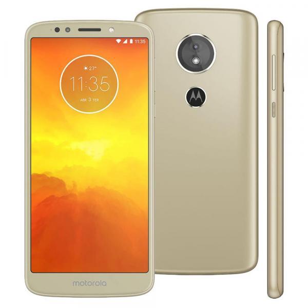 Smartphone Motorola Moto E5 XT1944 Ouro com 16GB, Tela 5.7'', Dual Chip, Android 8.0, 4G, Câmera 13MP, Processador Quad-Core e 2GB de RAM