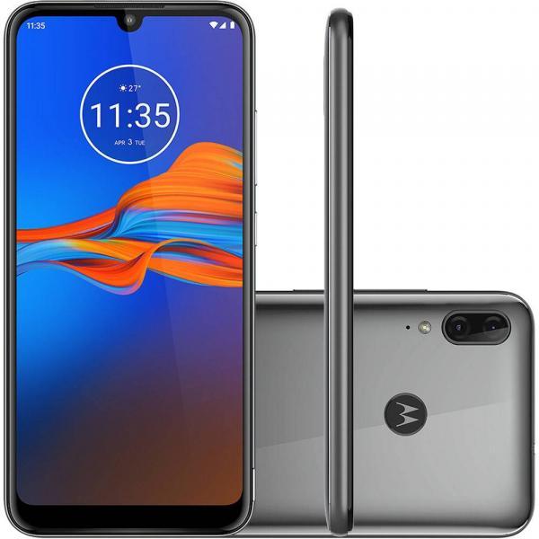 Celular Motorola Moto E6 Plus 32 GB Cinza Metálico Câmera Dupla 13MP + 2MP