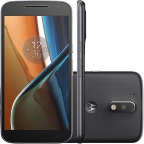 """Smartphone Motorola Moto G 4ª Geração Preto, Dual Chip, Tela 5.5"""", 16GB, Câm. 13MP, Android 6.0, DTV"""