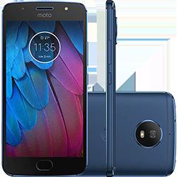 "Smartphone Motorola Moto G 5S Dual Chip Android 7.1.1 Nougat Tela 5.2"" Snapdragon 430 32GB 4G Câmera 16MP - Azul Safira"