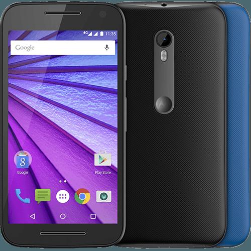 """Tudo sobre 'Smartphone Motorola Moto G (3ª Geração) Colors Dual Chip Android 5.1 Tela 5"""" 16GB 4G Câmera 13MP - Preto + 1 Capa Azul'"""