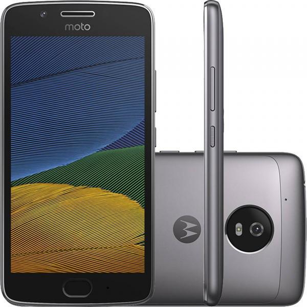 Smartphone Motorola Moto G5 XT1672 32GB, Dual Chip, 4G, Android 7.0, Câm 13MP, Tela 5, Wi -Fi Platinum