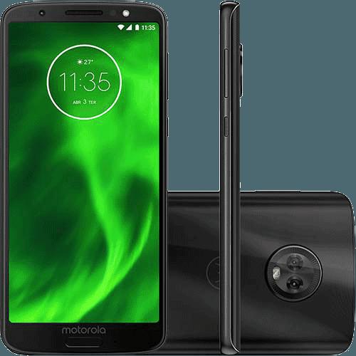 "Smartphone Motorola Moto G6 64GB Dual Chip Android Oreo - 8.0 Tela 5.7"" Octa-Core 1.8 GHz 4G Câmera 12 + 5MP (Dual Traseira) - Preto"