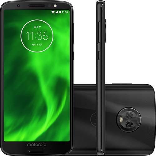 Smartphone Motorola Moto G6 64GB Dual CHIP Android Oreo 8.0 Tela 5.7P OCTA-CORE 1.8 GHZ 4G Camera 12 + 5MP Dual Traseira Preto