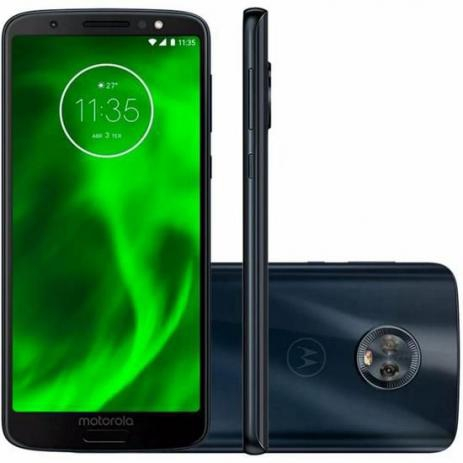 "Smartphone Motorola Moto G6 32GB Dual Chip Android Oreo - 8.0 Tela 5.7"" Octa-Core 1.8 GHz 4G Câmera 12 + 5MP - Índigo"