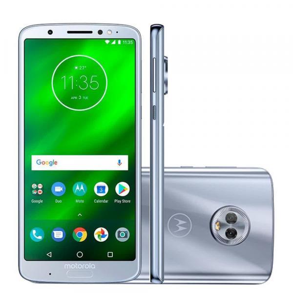 "Smartphone Motorola Moto G6 32GB Dual Chip Android Oreo - 8.0 Tela 5.7"" Octa-Core 1.8 GHz 4G Câmera 12 + 5MP Prata"
