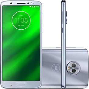 "Smartphone Motorola Moto G6 Plus 64GB 4G Tela 5.9"" Dual Traseira 12+5MP - Azul Topázio"