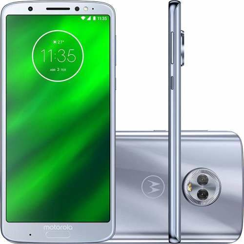 "Smartphone Motorola Moto G6 Plus 64gb + Capa e Película Dual Chip Android Oreo - 8.0 Tela 5.9"" Octa-core 2.2 Ghz 4g Câmera 12 + 5mp (dual Traseira) - Azul Topázio"
