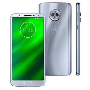 """Smartphone Motorola Moto G6 Plus XT1926 Dual Chip, Android 8.0, Câmera Traseira Dupla, Processador Octa-Core e 4GB de RAM, 64GB, Topázio, Tela de 5,9"""""""