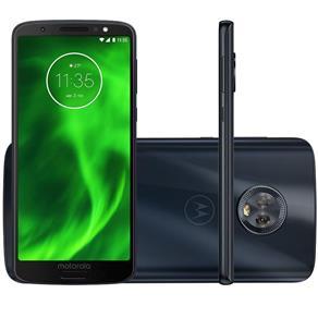 "Smartphone Motorola Moto G6 Tela 5.7"" 32GB 3GB RAM Câm 12MP + 5MP + Frontal 8MP Dualchip Cor Azul"