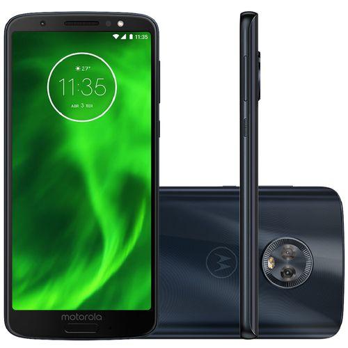 Smartphone Motorola Moto G6 XT1925 32GB Dual Chip, 4G, Android 8.0, Câm 12MP, Tela 5.7, Wi-Fi Indigo