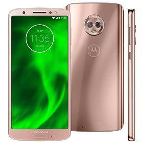 Smartphone Motorola Moto G6 XT1925 Ouro Rosê 64GB, Tela de 5.7'', Dual Chip, Android 8.0, Câmera Traseira Dupla, Processador Octa-Core e 4GB de RAM