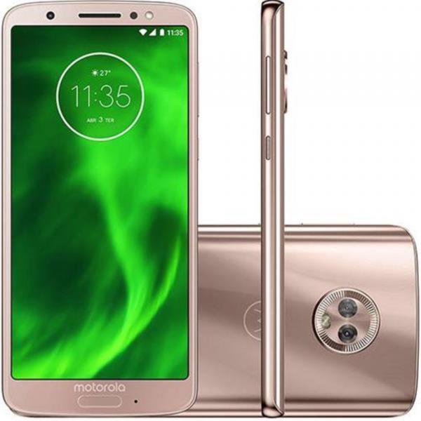 Smartphone Motorola Moto G6 XT1925 Ouro Rosê 64GB, Tela de 5.7, Dual Chip, Android 8.0, Câmera Traseira Dupla, Processador Octa-Core e 4GB de RAM