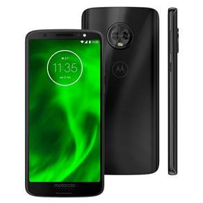 Smartphone Motorola Moto G6 XT1925 Preto com 64GB, Tela de 5.7'', Dual Chip, Android 8.0, Câmera Traseira Dupla, Processador Octa-Core e 4GB de RAM