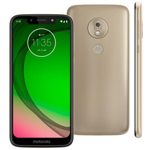 Smartphone Motorola Moto G7 Play 32Gb Tela 5.7` Octa Core 1.8 Ghz Câmera Traseira 13Mp - Ouro
