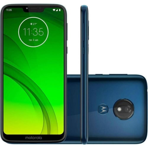 Smartphone Motorola Moto G7 Power 64Gb Dual Chip 9.0 Tela 6.2` 12Mp - Azul Navy