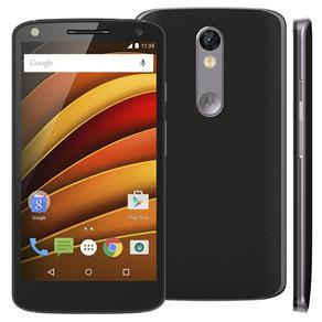 Smartphone Motorola Moto X Force XT1580 Preto com 64GB, Tela de 5.4'', Dual Chip, Android 5.1, 4G, Câmera 21MP e Processador Qualcomm Octa-Core