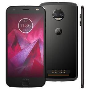 Smartphone Motorola Moto Z2 Force Edition Ônix 64GB, Tela 5.5'', Dual Chip, Câmera Traseira Dupla, Android 7.1, Processador Octa-Core e 6GB de RAM