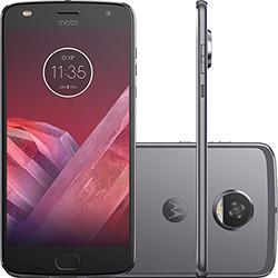 "Smartphone Motorola Moto Z2 Play Game Edition Dual Chip Android 7.0 Tela 5.5"" Octa-Core 64GB Wi-Fi 4G Câmera 12MP - Platinum"