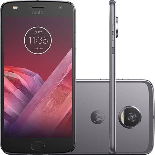 "Smartphone Motorola Moto Z2 Play Gamepad Edition Dual Chip Android 7.0 Tela 5.5"" Octa-Core 64GB Wi-Fi 4G Câmera 12MP - Platinum"