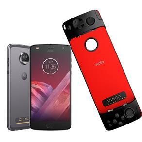 Smartphone Motorola Moto Z2 Play GamePad Edition Platinum 64GB, Tela 5.5'', Dual Chip, Câmera 12MP, Android 7.1, Processador Octa-Core e 4GB de RAM